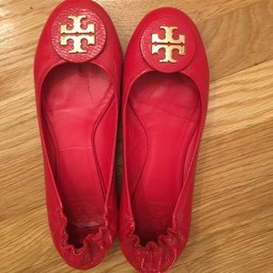 Tory Burch Reva Flat, Red, 7